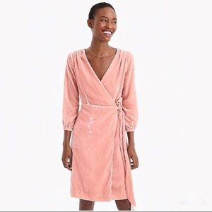 NWT J. CREW Wrap Dress in Drapey Velvet